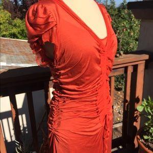 💥STUNNING 💥JPG Maille Femme Rouched silk Dress